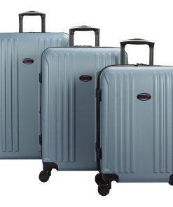 American Flyer Moraga 3 Piece Expandable Hardside Spinner Luggage Set Dusk Blue - American Flyer Luggage Sets