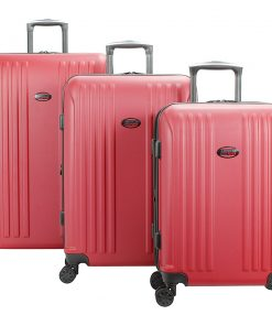 American Flyer Moraga 3 Piece Expandable Hardside Spinner Luggage Set Red - American Flyer Luggage Sets