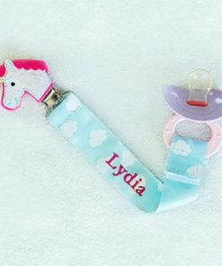 Any Name Unicorn Personalized Pacifier Clip