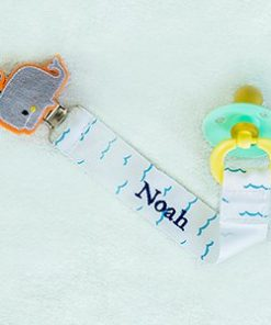 Any Name Whale Personalized Pacifier Clip