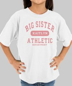 Big Sister Athletic Dept. Personalized Kids T-shirt