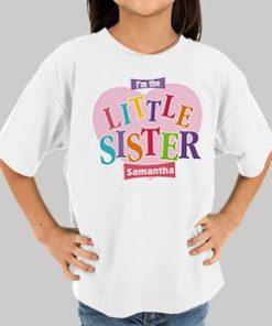 Big Sister Heart Personalized Kids T-shirt