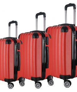 Brio Luggage Hardside Spinner Luggage Set #1331 Red - Brio Luggage Luggage Sets