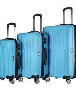 Brio Luggage Hardside Spinner Luggage Set #1600 Light Blue - Brio Luggage Luggage Sets