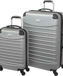 Geoffrey Beene Luggage 2 Piece Hardside Spinner Luggage Set Gray - Geoffrey Beene Luggage Luggage Sets