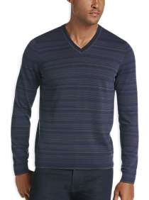 JOE Joseph Abboud Dark Charcoal V-Neck Sweater