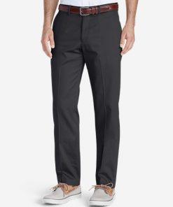 Men's Wrinkle-Free Slim Fit Flat-Front Performance Dress Khaki Pants