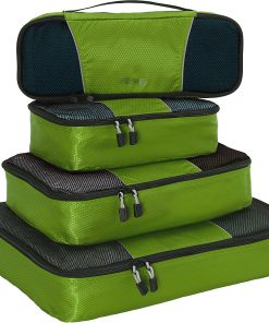 eBags Classic Packing Cubes - 4pc Classic Plus Set Grasshopper - eBags Travel Organizers