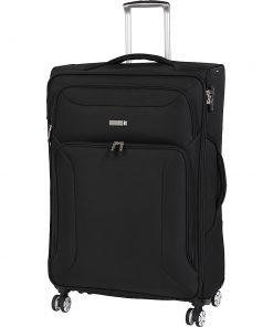 "it luggage Megalite Fascia 31.5"" Expandable Checked Spinner Luggage - eBags Exclusive Black - it luggage Softside Checked"