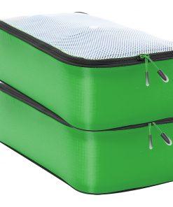 eBags Hyper-Lite Packing Cube- Slim 2pc set Green - eBags Travel Organizers