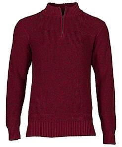 RedHead Men's Quarter-Zip Fatigue Long-Sleeve Sweater Regular (Adult) - Navy