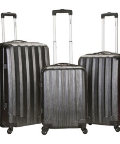Rockland Luggage Santa FE 3-Piece Hardside Spinner Luggage Set Carbon - Rockland Luggage Luggage Sets