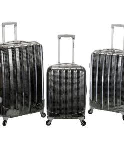 Rockland Luggage Santa FE 3-Piece Hardside Spinner Luggage Set Fiber - Rockland Luggage Luggage Sets