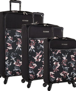 Vince Camuto Luggage Kylee 3 Piece Expandable Spinner Luggage Set Black Lily - Vince Camuto Luggage Luggage Sets