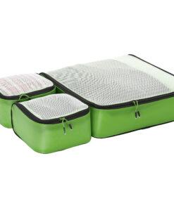 eBags Hyper-Lite Packing Cubes - Starter 3pc Set Green - eBags Travel Organizers