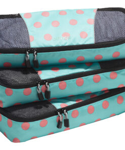 eBags Slim Classic Packing Cubes - 3pc Set Green Dots Anyone? Large - eBags Travel Organizers