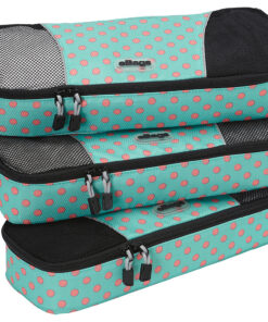 eBags Slim Classic Packing Cubes - 3pc Set Green Dots Anyone? - eBags Travel Organizers