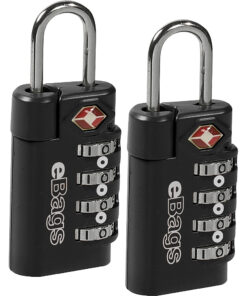 eBags TSA Accepted Lock 4-Dial Combo (2pk) Black - eBags Luggage Accessories