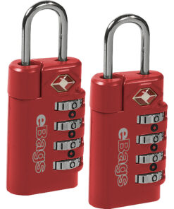 eBags TSA Accepted Lock 4-Dial Combo (2pk) Red - eBags Luggage Accessories