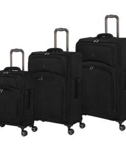 it luggage Authorship 3 Piece Softside Expandable Luggage Set Black - it luggage Luggage Sets