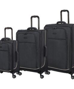 it luggage Encircle 3 Piece Softside Expandable Luggage Set Charcoal Grey/ Smoked Pearl - it luggage Luggage Sets
