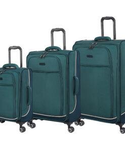 it luggage Encircle 3 Piece Softside Expandable Luggage Set Teal Blue - it luggage Luggage Sets