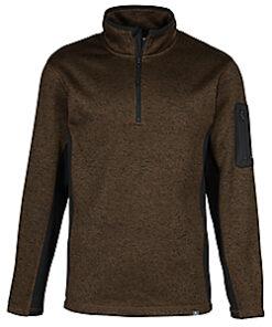 Ascend Men's Sweater Fleece 1/4-Zip Pullover (Adult) - Brown