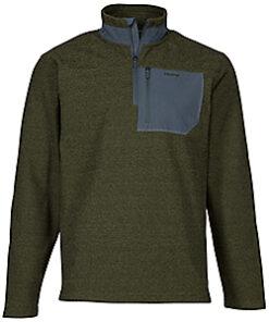 Ascend Men's Sweater Fleece Jacket (Adult) - Olive