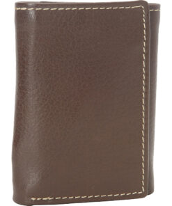 Buxton Metropolis Three Fold Wallet Brown - Buxton Men's Wallets