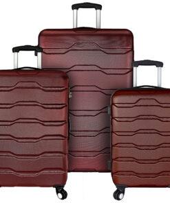 Elite Luggage Omni 3 Piece Hardside Spinner Luggage Set Red - Elite Luggage Luggage Sets