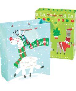 Medium Christmas Llama Gift Bags