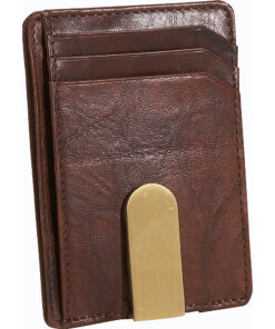 Buxton Lexington II Front Pocket Wallet Brown - Buxton Men's Wallets
