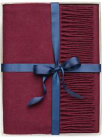 Joseph Abboud Bordeaux Recycled Cashmere Scarf