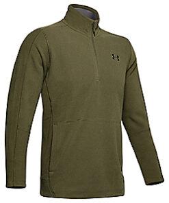 Under Armour Men's Zephyr Fleece Solid Quarter-Zip Pullover (Adult) - Black/graphite