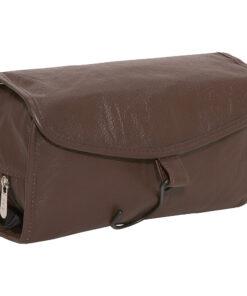 AmeriLeather Leather Travel Bag Dark Brown - AmeriLeather Toiletry Kits