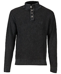 Bob Timberlake 4-Button Long-Sleeve Sweater for Men (Adult) - Blue
