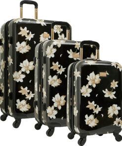 Vince Camuto Luggage Corinn 3 Piece Expandable Hardside Spinner Luggage Set Black - Vince Camuto Luggage Luggage Sets