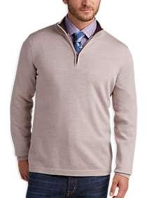 Joseph Abboud Oatmeal Merino Wool Sweater