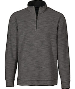 Bob Timberlake Quarter-Zip Long-Sleeve Slub Pullover for Men (Adult) - Grey