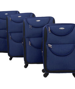 Chariot Hudson 4 Piece Softside Spinner Luggage Set Navy - Chariot Luggage Sets