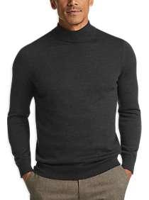 Joseph Abboud Charcoal Mock Neck Performance Sweater