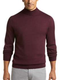 Joseph Abboud Wine Mock Neck Performance Sweater