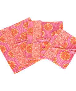 Amy Butler for Kalencom Safia Lingerie Envelope Small Dehli Blooms Tangerine - Amy Butler for Kalencom Travel Organizers