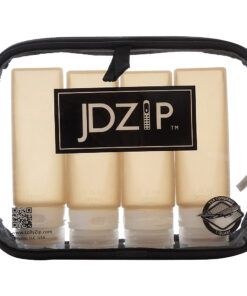 LollyZip JDZip Silicon Travel Bottles - Set of 4 in Clear Quart Size Carry-on Toiletry Bag Dusk - LollyZip Travel Health & Beauty
