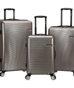 Rockland Luggage Horizon 3 Piece Hardside Spinner Luggage Set Silver - Rockland Luggage Luggage Sets