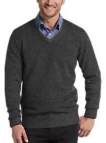 Joseph Abboud Black Modern Fit V-Neck Sweater