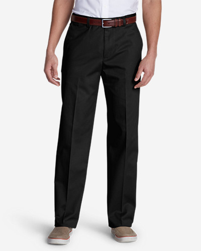 Men's Dress Performance Flat-Front Khakis - Classic