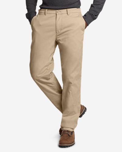 Men's Flex Fleece-Lined Chinos - Slim