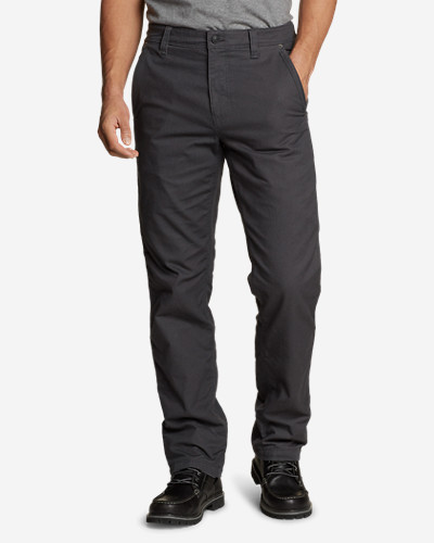 Men's Snowcat Fleece-Lined Canvas Pants