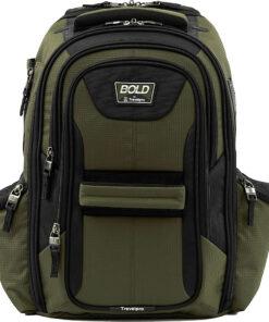 Travelpro Travelpro Bold Computer Backpack Olive/Black - Travelpro Business & Laptop Backpacks